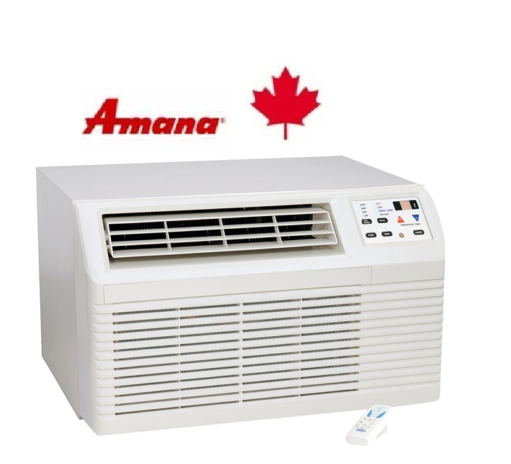 Amana PBE093E35BX Wall Air Conditioner 9,200/8,900 btu Cooling with Electric Heat