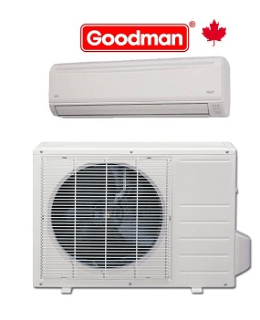 Goodman 12,000 btu MSG12HRN1N/1W Ductless Mini-Split System Heating and Cooling