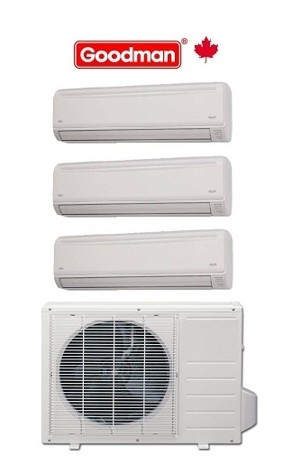 MST273E21MCAA HEAT PUMP OUTDOOR UNIT 27,000 BTU INDOOOR UNIT 2 X 9,000 + 1 x 12,000 BTU 21 SEER